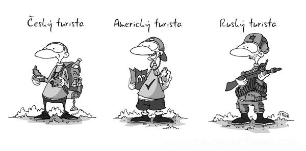 Vtip měsíce února 2. místo Marek Simon - Rusky turista